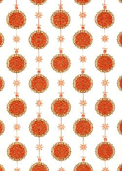 Les guirlandes de Noël rouges et or vif (50x65)