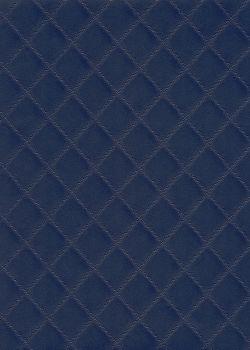 "Simili cuir ""Diamond"" bleu marine"