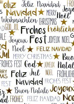 """""""Joyeux Noël"""" noir et or vif (50x70)"""