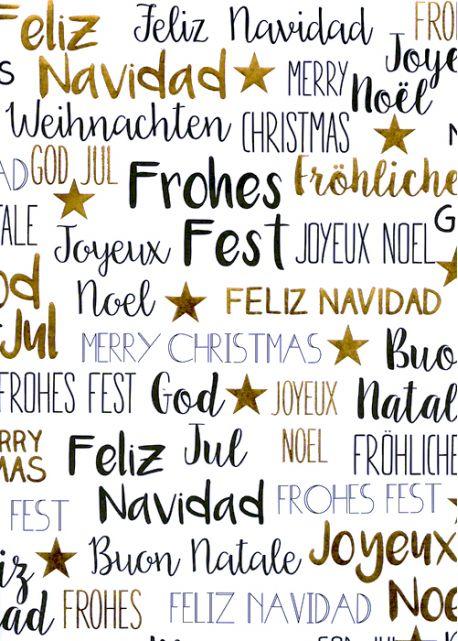 Joyeux Noël Noir Et Or Vif 50x70