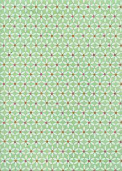 Lokta marguerite fond menthe (50x76)
