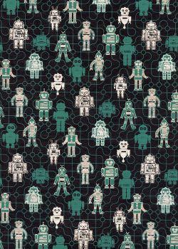 Les petits robots (50x70)
