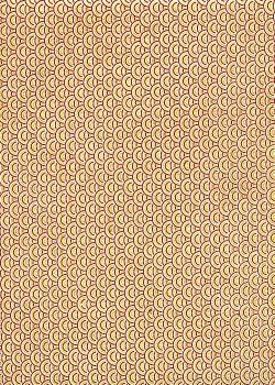 Lokta écailles or et bordeaux fond naturel (50x75)