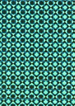 Lokta géométrie 3 tons bleu (50x75)