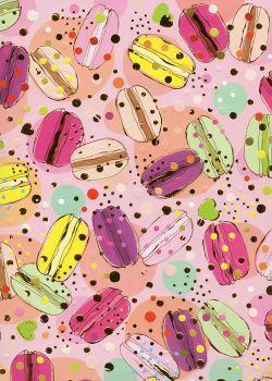 Papier Turnowsky les macarons réhaussés or (50x70)