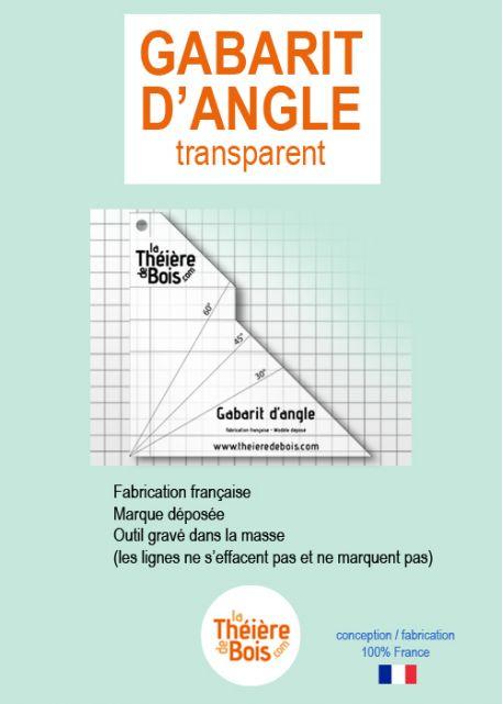Gabarit d'angle transparent Multi-fonctions