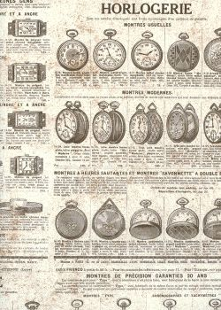 "Ancien catalogue thème ""horlogerie"" (70x100)"