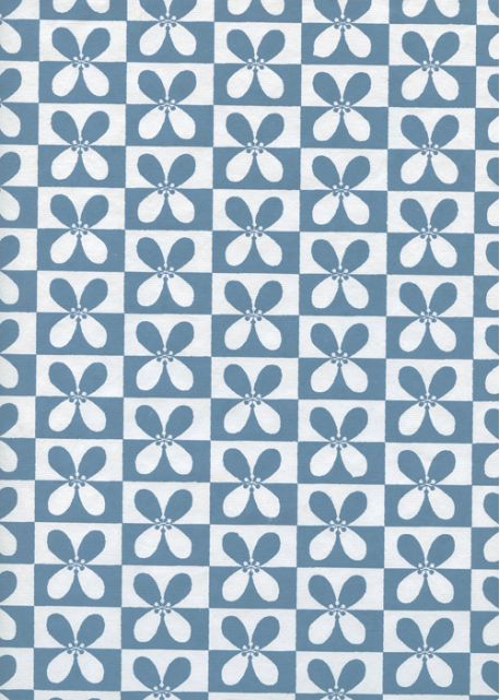 Carré de marguerites blanches et bleues (50x65)