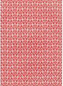 Les petits copains rouges fond blanc (50x65)