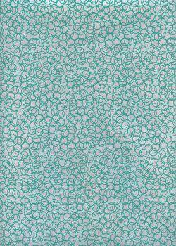 Bubbles turquoise fond gris (50x70)