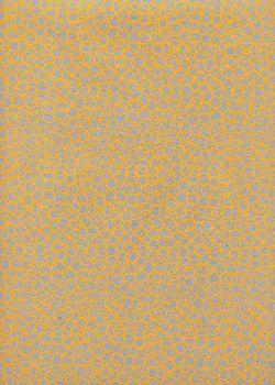 Bubbles jaune fond gris (50x70)