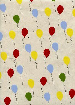 Lokta les ballons fond naturel (51x77)