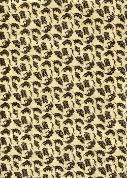 Lokta feuilles chocolat fond beige (51x77)