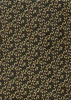 Lokta pétales or fond noir (51x77)