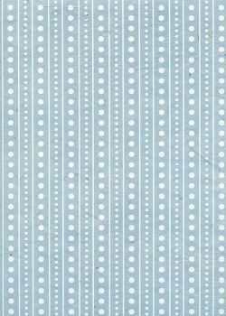 Lokta frises blanches fond bleu tendre (51x77)