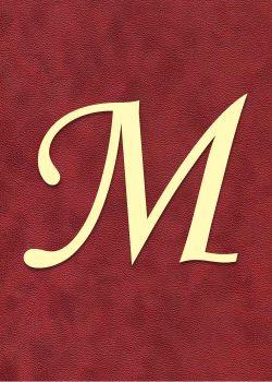 """Lettre """"M"""" à embosser"""
