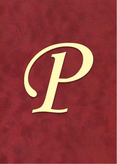 """Lettre """"P"""" à embosser"""