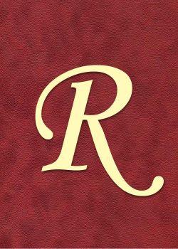 """Lettre """"R"""" à embosser"""