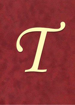"""Lettre """"T"""" à embosser"""