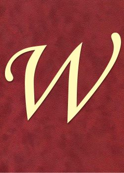 "Lettre ""W"" à embosser"