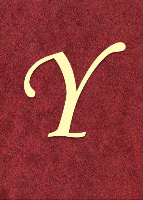 """Lettre """"Y"""" à embosser"""