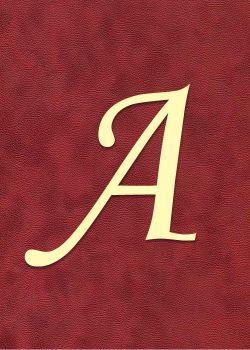 """Lettre """"A"""" à embosser"""