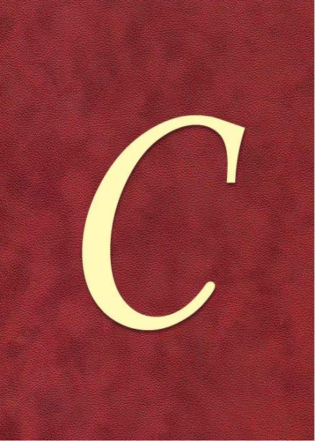 """Lettre """"C"""" à embosser"""