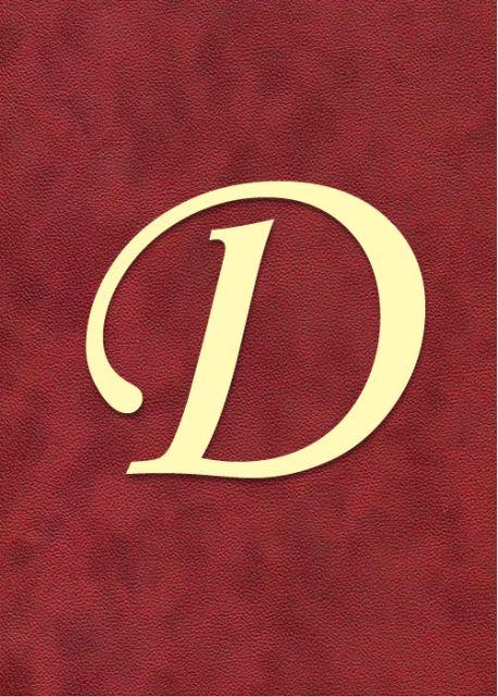 """Lettre """"D"""" à embosser"""