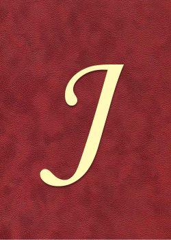 "Lettre ""J"" à embosser"