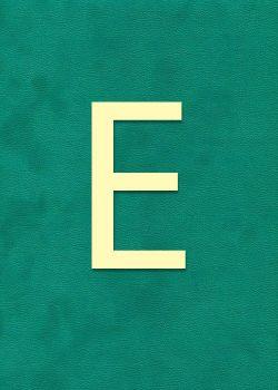 "Lettre ""E"" à embosser"