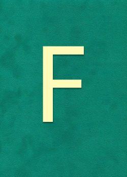 "Lettre ""F"" à embosser"