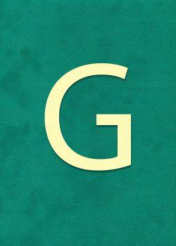 """Lettre """"G"""" à embosser"""