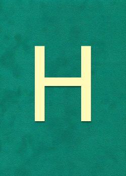 """Lettre """"H"""" à embosser"""