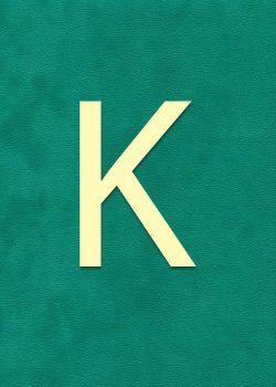 """Lettre """"K"""" à embosser"""