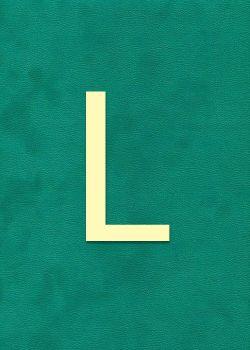 """Lettre """"L"""" à embosser"""