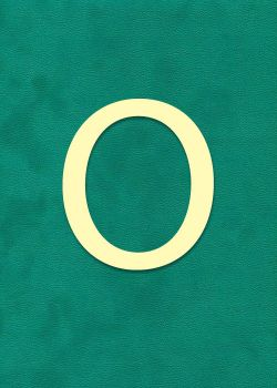 """Lettre """"O"""" à embosser"""