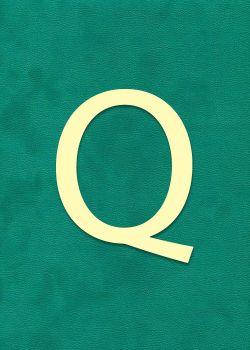 """Lettre """"Q"""" à embosser"""