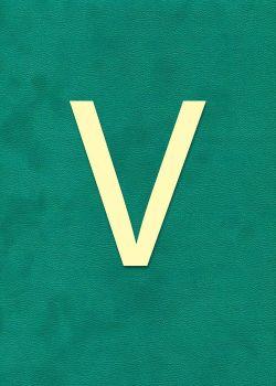 """Lettre """"V"""" à embosser"""