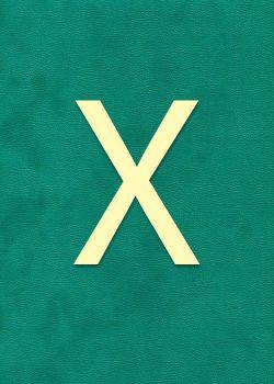 """Lettre """"X"""" à embosser"""