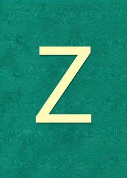 "Lettre ""Z"" à embosser"