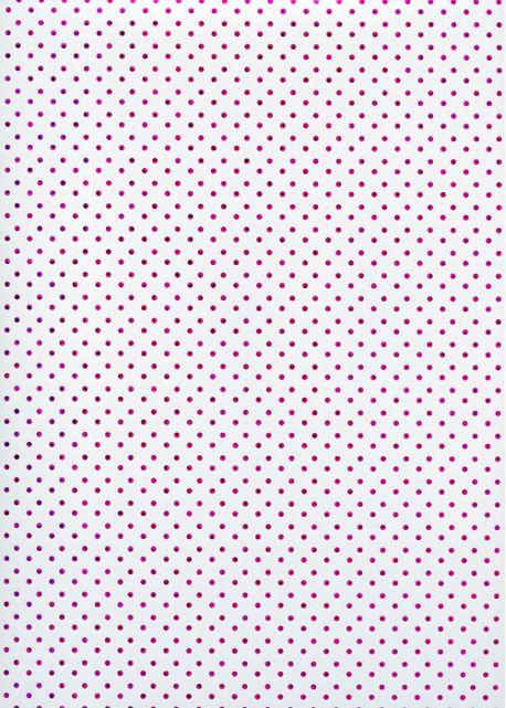 Plumetis métallisé fushia fond blanc (48x68)