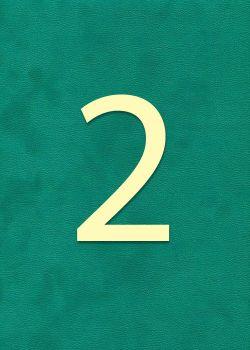 """Chiffre""""2"""" classique (H:2cm L:1.6cm)"""