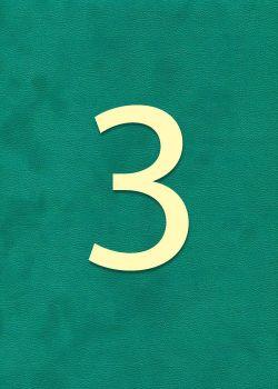 """Chiffre""""3"""" classique (H:2cm L:1.6cm)"""