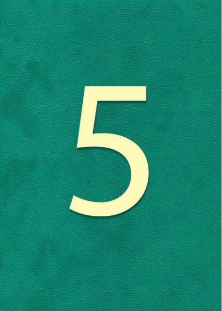 """Chiffre""""5"""" classique (H:2cm L:1.6cm)"""