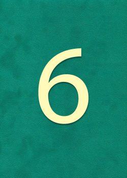 """Chiffre""""6"""" classique (H:2cm L:1.6cm)"""