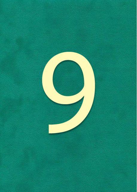 """Lettre """"9"""" classique (H:2cm L:1.6cm)"""