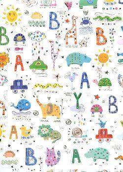 Papier Turnowsky baby réhaussé argent (50x70)