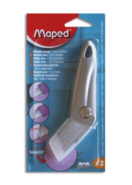 Cutter métal MAPED coudé + 2 lames