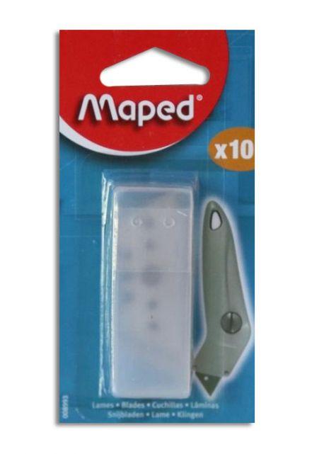 Recharge de 10 lames pour cutter MAPED coudé