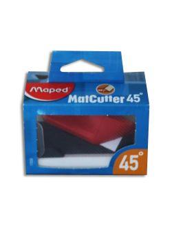 Cutter biseau 45° + 5 lames Maped
